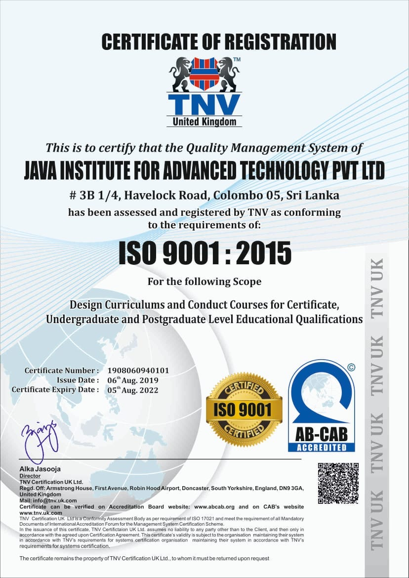 Java Institute ISO