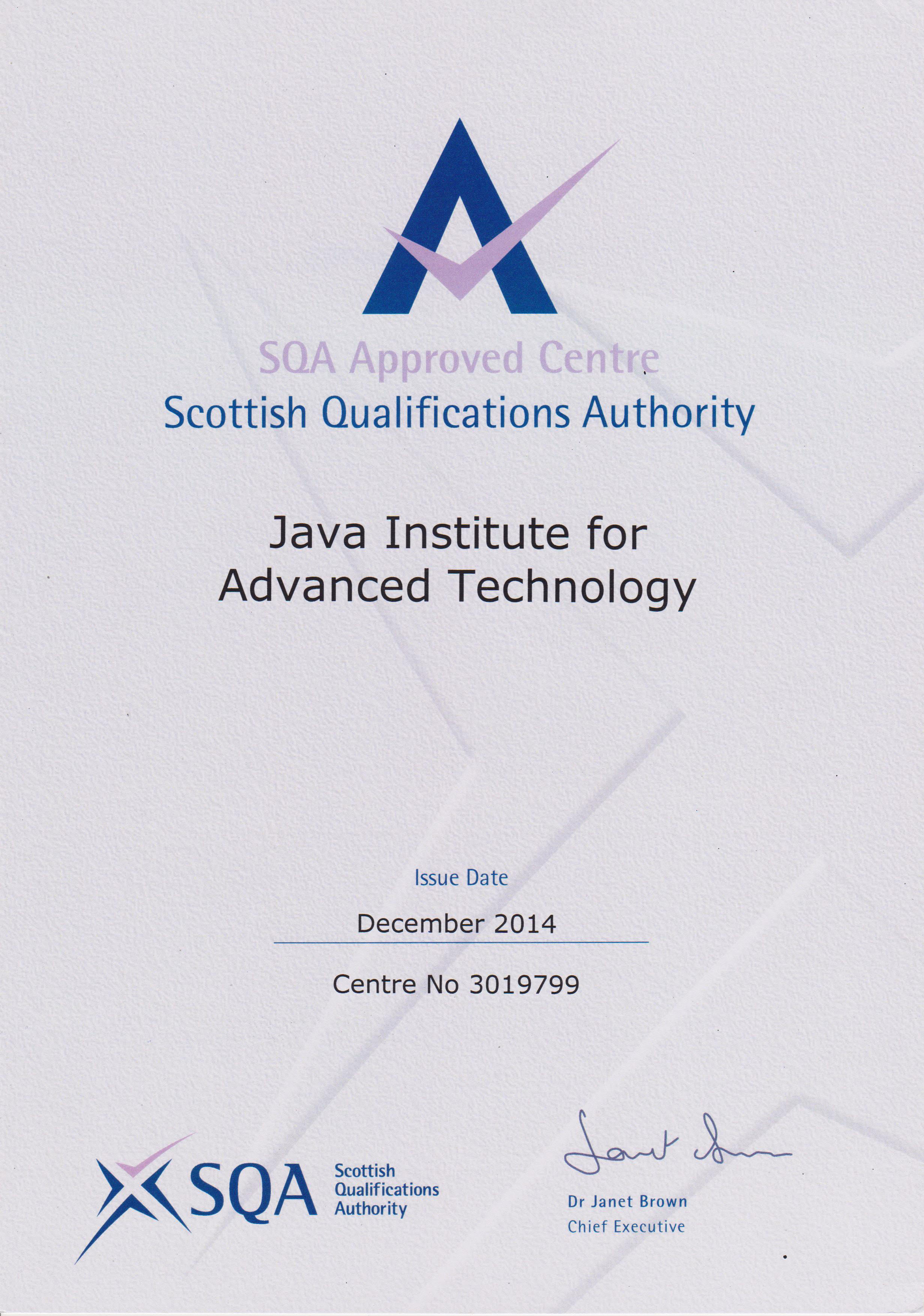 Java Institute SQA